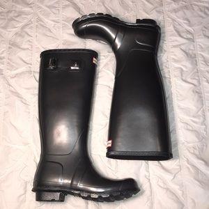 Tall Grey Hunter Boots